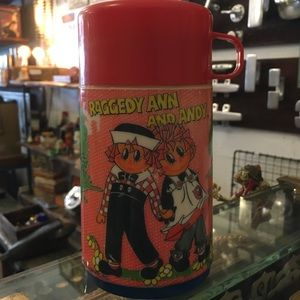 Vintage Raggedy Ann and Andy thermos
